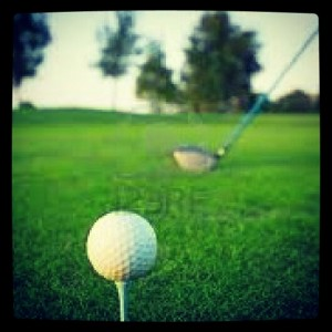 bola golf movida swing practicas en lugar tee salida