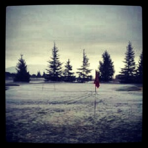 campo gol nevado nieve