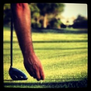 golf lugar salida tee salida