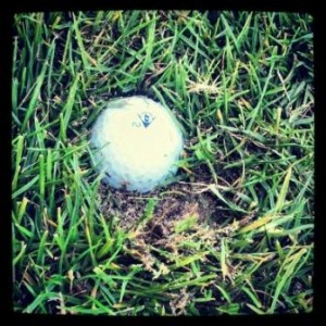 golf bola empotrada