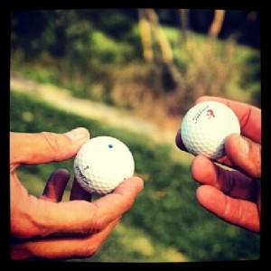 bolas golf cambio de bolas marcar bolas