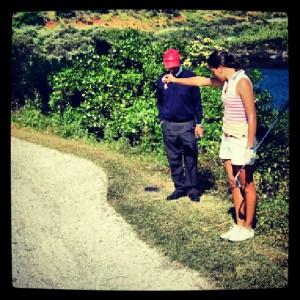 golf dropar bola carretera